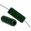 Ceramic Bead Cylinder 17x5mm Dark Green